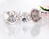 Spoon Bracelet - Orange Blossom Spoon  Bracelet - Sterling Flower Spoon Bracelet -  Spoon Jewelry - Vintage Spoon Bracelet (mf  662)