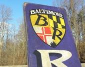 Baltimore Ravens vintage sign