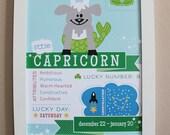 Capricorn Baby Zodiac Print