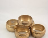 Mid-century  Hollywood Regency Brass Napkin rings (5)