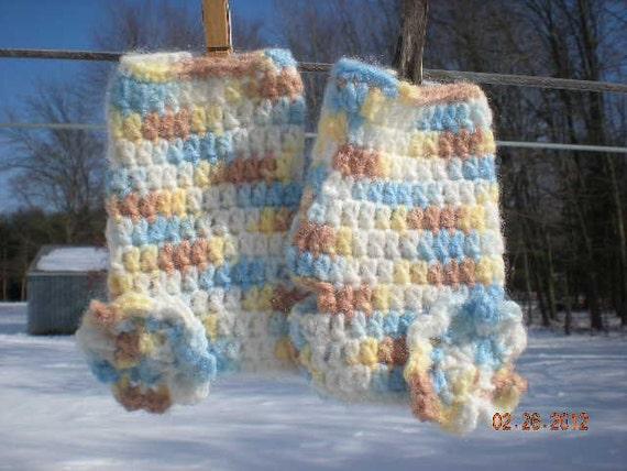 Crochet Fingerless Gloves with Flower Accents