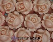Resin Cabochon - 5pcs - Flower Cabochon - Vintage Pink Flower Cabochon - Cabochon - SW95-6
