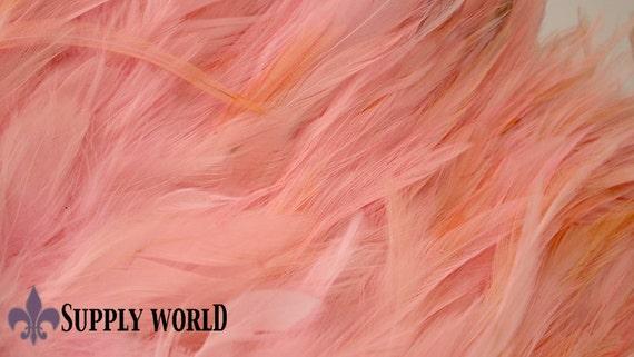 Saddle Coque Feather Fringe - High Quality Feathers - Powder Pink Rooster Saddle Feathers - Saddle Feather Fringe