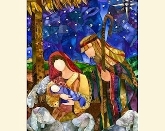 "Matted ""One Silent Night"" Giclee reproduction of original watercolor painting fits 16""x20"" frame"