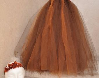 Rust and brown hydrangea tutu dress.
