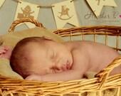 Nursery Rhyme Banner - Room Decoration - Vintage Shabby Chic - Photo Prop for Children or Newborn