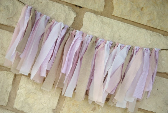 Fabric Banner Backdrop - Decoration or Photo Prop - Pink Vintage Inspired
