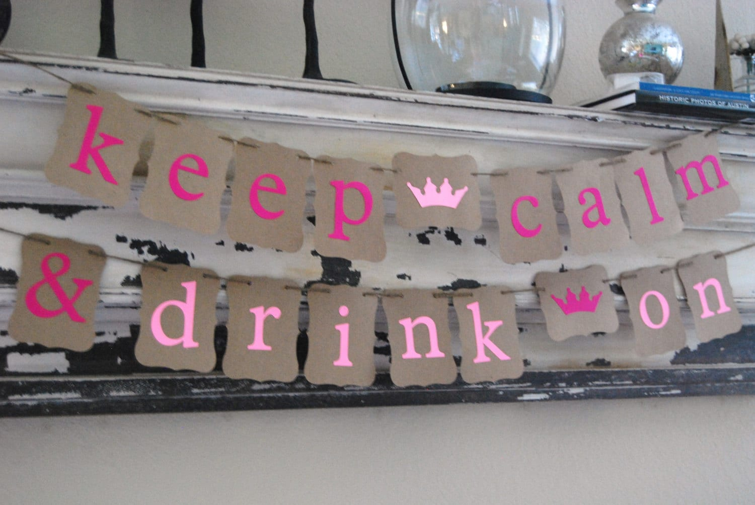 Bachelorette party banner keep calm and drink on party for Bachelorette party decoration ideas