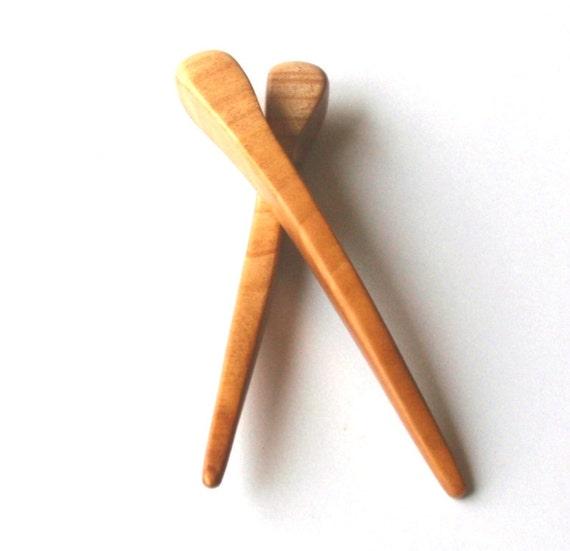 Wooden hair sticks, Wood, Cherry, Hairpin, Hair chopsticks, Handmade