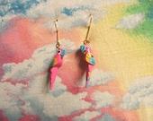 Pink Parrot Earrings