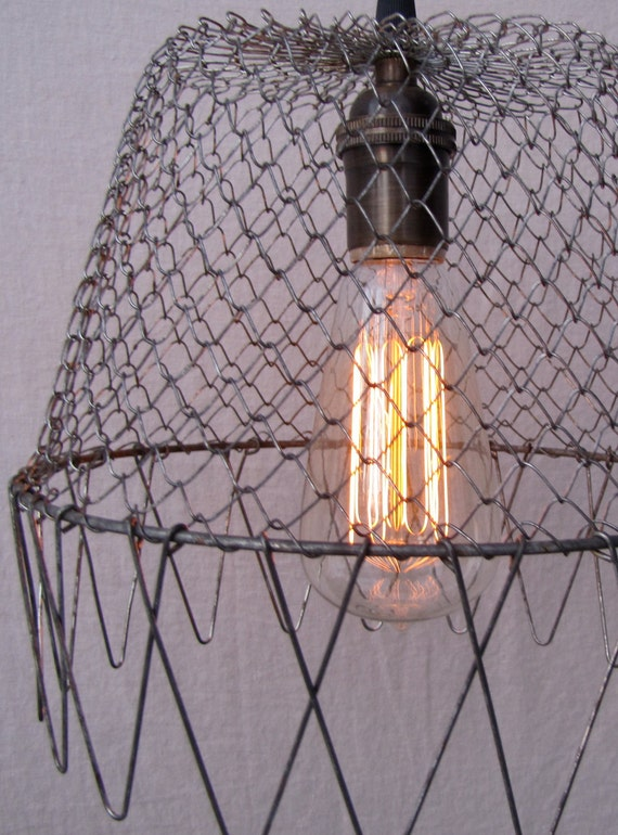 Retired Egg Basket Pendant Light