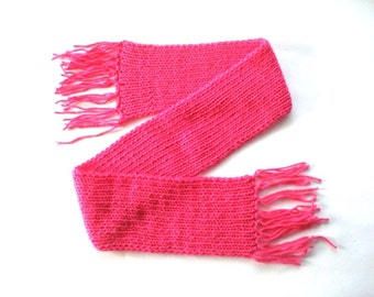 Scarf Knitted Kid s Scarves royal pink crochet scarf thick scarves  Knitted Scarves For Kids