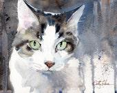 Beloved Cat - print of an original watercolor