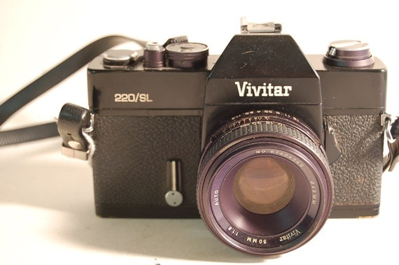 SALE///Working Vivitar 220/SL SLR 35mm Camera w/Manual