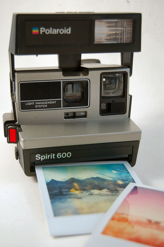 TESTED Polaroid Spirit 600 Instant Photo Camera 80's