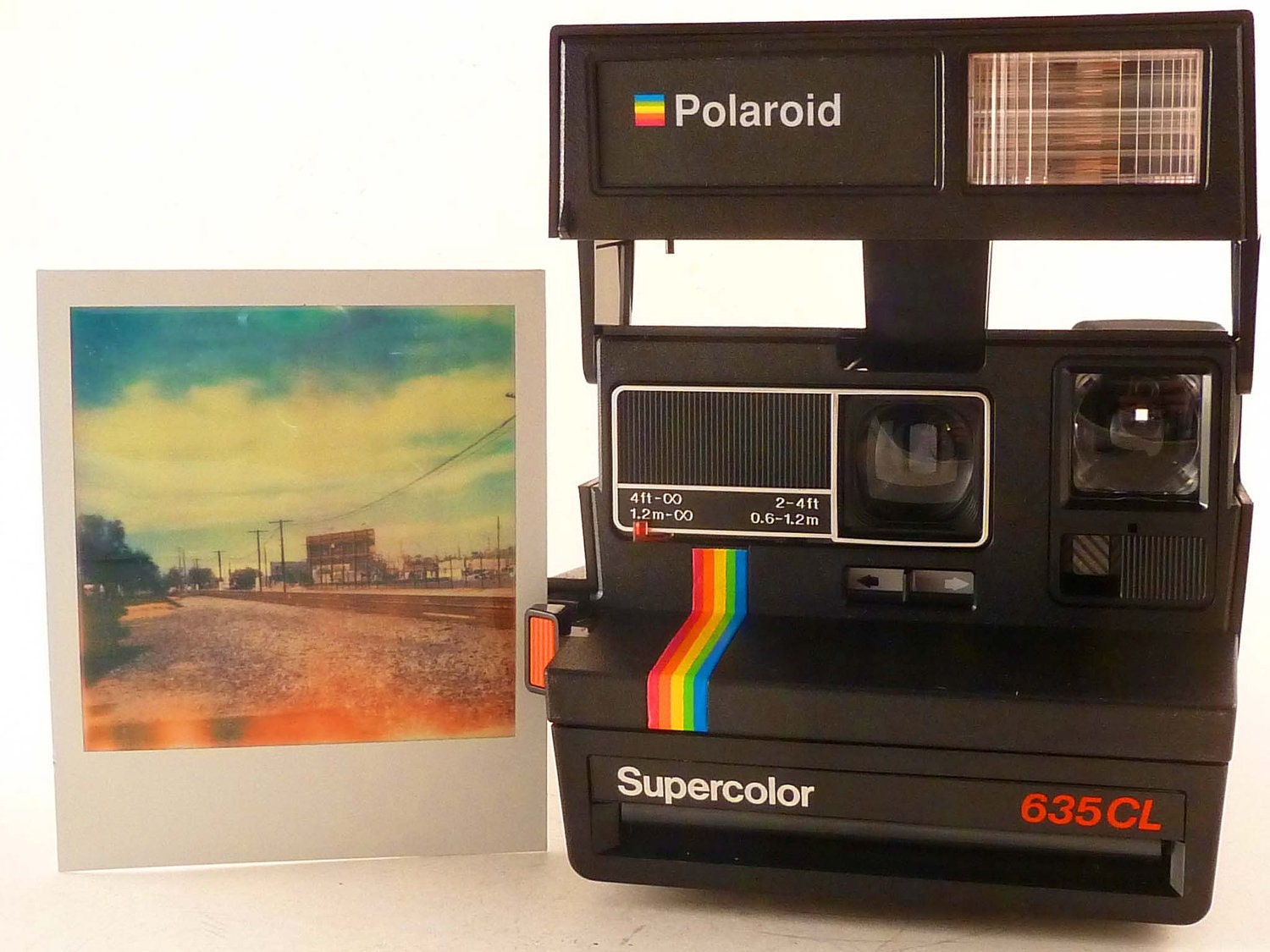 working supercolor polaroid 635cl instant film camera. Black Bedroom Furniture Sets. Home Design Ideas