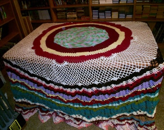 Multi Color Pineapple Tablecloth