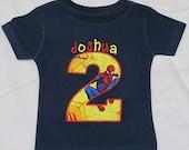 PERSONALIZED SHIRT - BIRTHDAY Shirt - Spiderman - Named Shirt - Number Shirt - Shirt - Tshirt - Infant - Toddler - Clothing