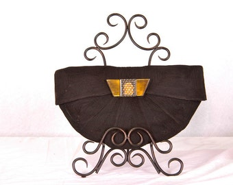 Vintage CORDE Clutch with Lucite Clasp