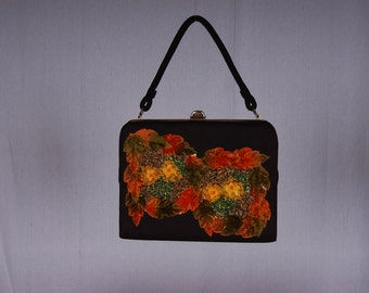 Vintage 1950s Hand Decorated Caron Handbag