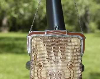 Vintage Whiting & Davis Enameled Mesh Bag