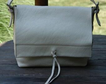 Vintage Marshall Fields Ivory Leather Shoulder Bag