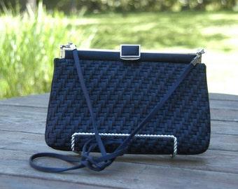 Vintage Judith Leiber Silk Woven Shoulder Bag