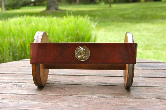 Vintage Garay Brown Leather Coin Belt