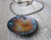 Bohemian necklace- OOAK patina