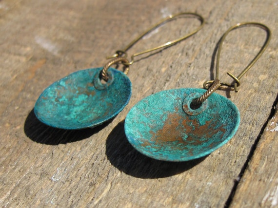 Verdigris Copper Earrings- Bohemian Style