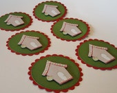 Gingerbread House Circle Gift Tags Embellishments