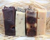 Set of Four Handmade Soap - Handmade Soap - Soap Set - homemade Soap Set