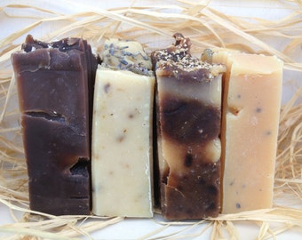 SOAP - Handmade Soap Set - Set of Four Handmade Soap - Soap Set - Holiday Soap Set
