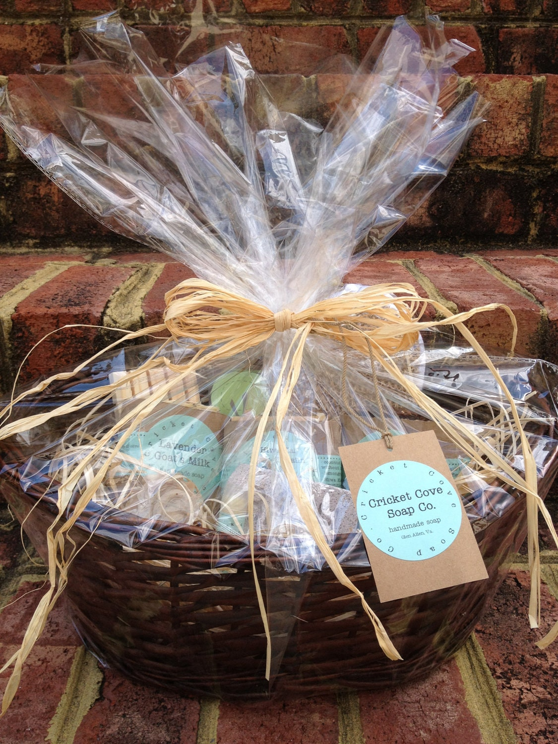 Handmade Basket Gifts : Large soap gift basket handmade