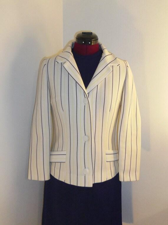 1970s Knits International Italian striped blazer - size 8 (M)