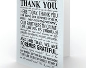 Thank You Note Digital File - Print on Demand