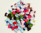 Two Mini Hair Bows for Baby, No-slip hair clip for baby, Infant and toddler bow