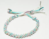 Beaded Kumihimo Bracelet Baby Pastel Jewelry Mom to Be Gift Baby Shower Gift