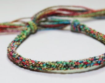 Rainbow Childrens Bracelet Kumihimo Braided Fiber Colorful Kids Jewelry