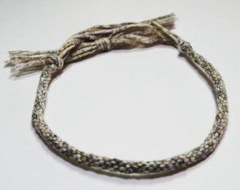 Kumihimo Mens Bracelet Fibre Egyptian Cotton Green Mans Jewelry