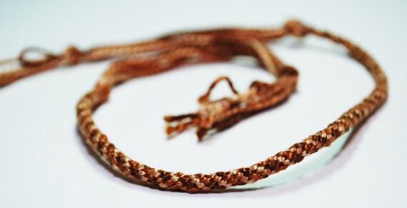 Friendship Bracelet Kumihimo Fibre Jewelry Autumn Colours Fall Fashion Jewelry