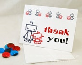 Red & Blue Robot Thank You Cards - Set of 10