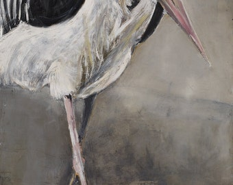 Walking Marabou  limited edition print size 3