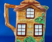 English Cottage Ware Teapot Hot Water Pot Westminster Hand Painted 1940s Cottageware