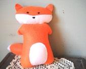 Plush Felt Red Fox Toy - Felt Animal Toy