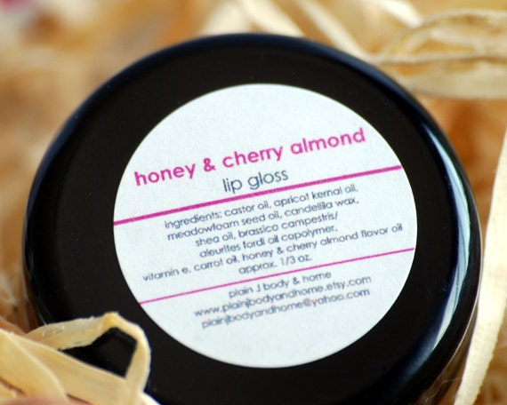 CLEARANCE Honey & Cherry Almond Lip Gloss