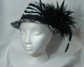 Zebra Print Fedora Hat