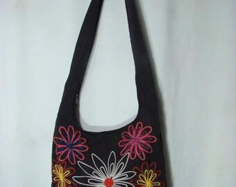 Hobo Bag Suede Floral Series, F100