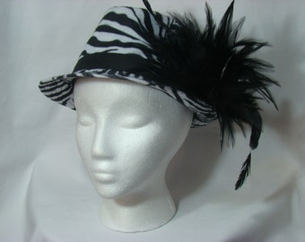 Zebra Print Fedora Hat (3000)
