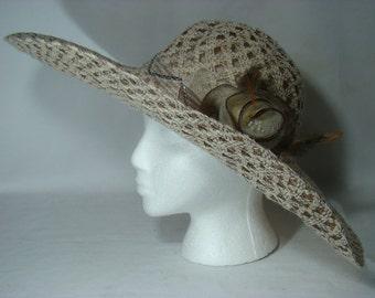 Cream Widebrim Dress Hat